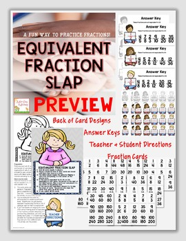 Equivalent Fractions Centers Bundle