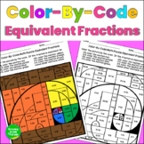 Equivalent Fractions Color By Code Math Puzzle