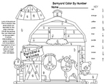 Equivalent Fractions Color By Number- Barn