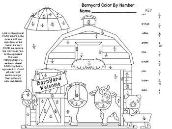 Equivalent Fractions Coloring Worksheets & Teaching Resources | TpT