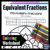 Equivalent Fractions Color By Number  4.NF.1