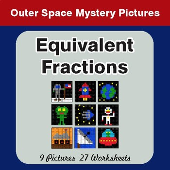 Equivalent Fractions - Color By Number Mystery Pictures