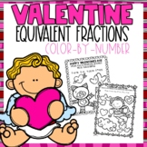 Equivalent Fractions Color-By-Number Valentines Themed