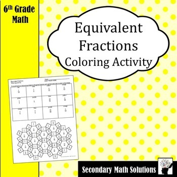 Equivalent Fractions Coloring Activity