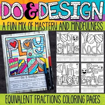 Equivalent Fractions Coloring Pages - Do & Design