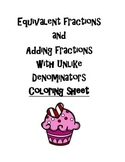 Equivalent Fractions Coloring Sheets