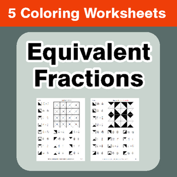 Equivalent Fractions - Coloring Worksheets