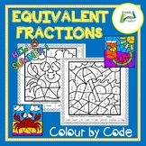 Equivalent Fractions Colour by Code