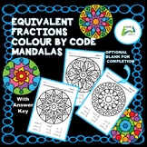 Equivalent Fractions Colour by Code Mandalas