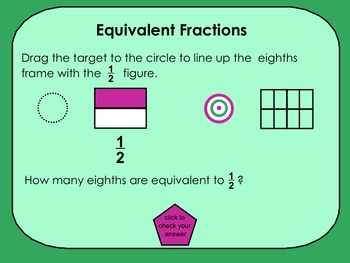 Equivalent Fractions for SMARTboards
