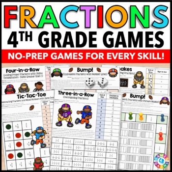 4th Grade Fraction Activities {4.NF.1, 4.NF.2, 4.NF.3, 4.NF.4}