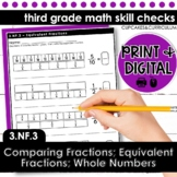 Equivalent Fractions; Comparing Fractions   Third Grade Math 3.NF.3