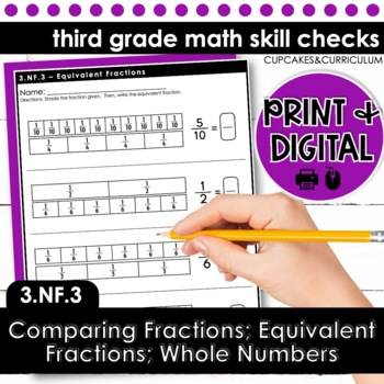 Equivalent Fractions; Comparing Fractions - Third Grade Pr