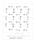 Equivalent Fractions Complete the Square Activity