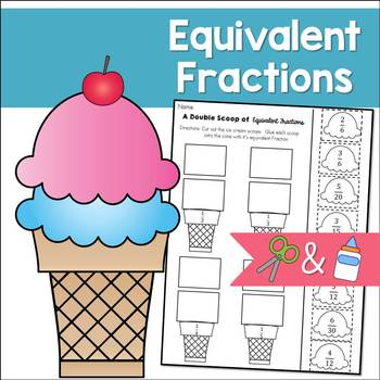 Equivalent Fractions Cut and Paste Sorting Activity