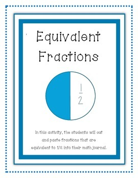 Equivalent Fractions Cut and Paste for Math Journal