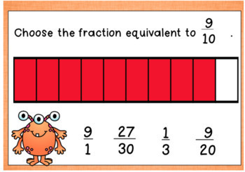 Equivalent Fractions DIGITAL Task Cards BOOM CARDS