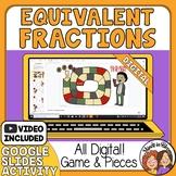 Equivalent Fractions DIGITAL Board Game  great for Google