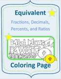 Equivalent Fractions, Decimals, Percents, and Ratios Spring Coloring Page
