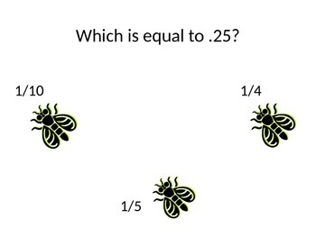 Equivalent Fractions, Decimals and Percent Game!