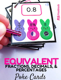 Equivalent Fractions, Decimals, and Percentages Peep Poke