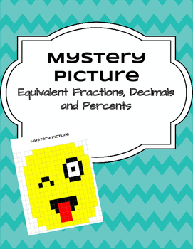 Equivalent Fractions, Decimals and Percents - Mystery Picture TEK 6.4G