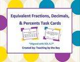 Equivalent Fractions, Decimals, and Percents Task Cards