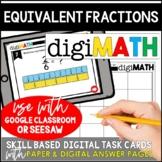 Equivalent Fractions: Digital Math Task Cards