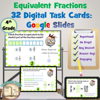 Equivalent Fractions: Digital Task Cards - Google Slides