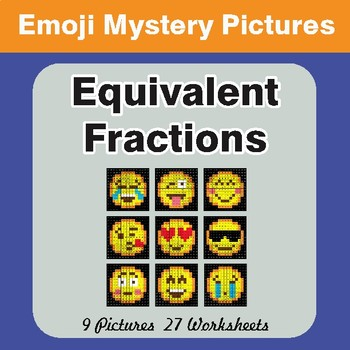 Equivalent Fractions EMOJI Math Mystery Pictures