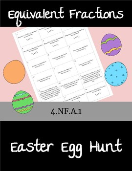 Equivalent Fractions Easter Egg Hunt