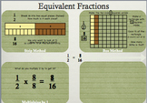 Fractions: Equivalent Fractions: Finding missing part: MAC Powerpoint and WS