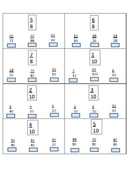 Equivalent Fractions Flashcards