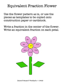 Equivalent Fractions Flower