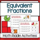 Equivalent Fractions Fourth Grade Math Logic Task Cards