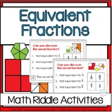 Equivalent Fractions Fourth Grade Math Riddle Task Cards