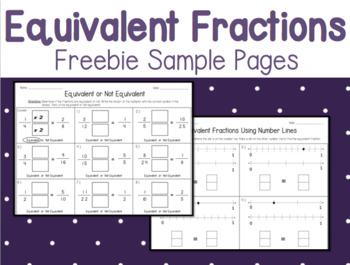 Equivalent Fractions - Freebie Sample