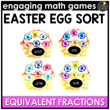 Easter Math Game - Equivalent Fractions