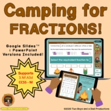 Equivalent Fractions Game Camping Theme - Distance Learning