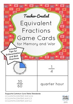 Equivalent Fractions Game Cards