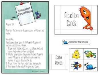 Equivalent Fractions Game (File Folder)