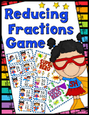 Reducing Fractions Game - Game Boards, Answer Key, 50 Task Cards!