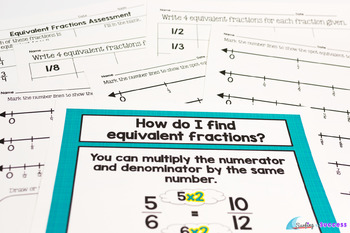 Equivalent Fractions: Game, Vocabulary, and More- Common Core Resource