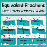 Equivalent Fractions Game, Vocabulary, and More- Common Core Resource