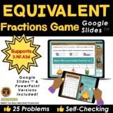 Equivalent Fractions Game on Google Slides