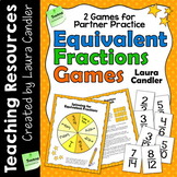 Equivalent Fractions Games for Math Centers or Partner Practice