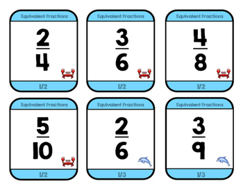 Equivalent Fractions Go Fish!