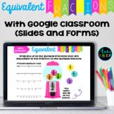 Equivalent Fractions Google Classroom Activities and Quiz