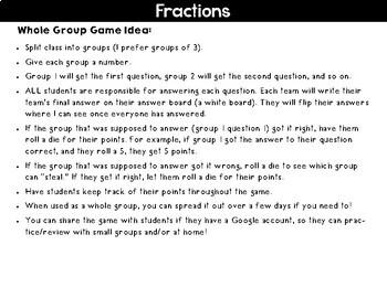 Equivalent Fractions Digital Google Activities