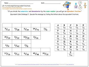 Equivalent Fractions - Grade 3 or 4